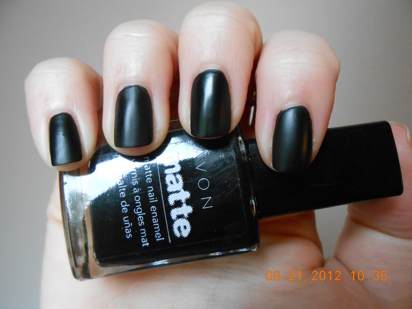 Avon Matte Black Nail Polish - Absolute cycle