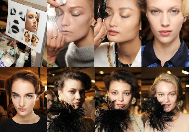 fashion, beauty, couture, haute couture, models, armani, armani prive, fashion week, eyes, eyeliner,pfw, paris fashion week, paris, luxury, makeup cosmetics, backstage, style, style.com, collage, fashion collage