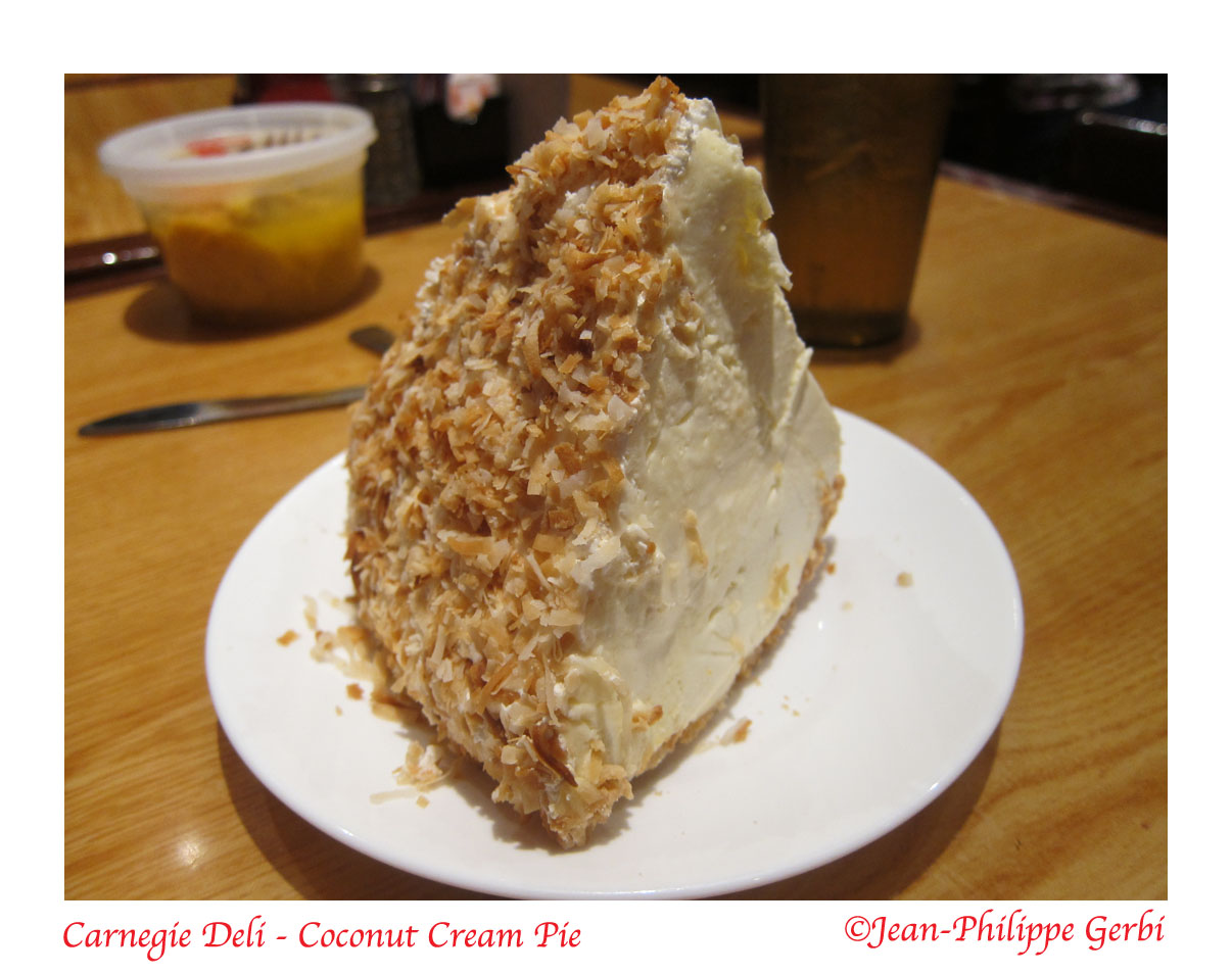 They also had coconut cream pie and banana cream pie.