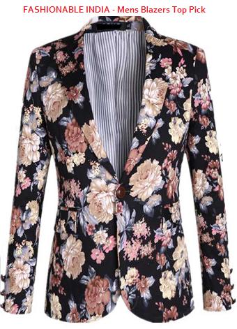 floral blazer velvet for fashionable men India