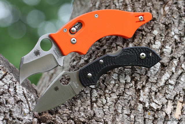 Spyderco Orange Dodo (Sprint) ~ C80GOR & Dragonfly2
