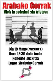 Charla: VIVIR LA SOLEDAD SIN TRISTEZA // Viernes, 19 de mayo