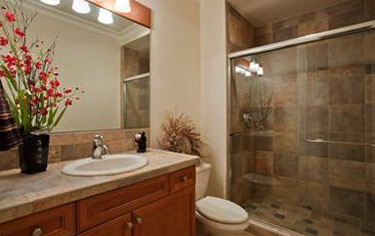 ease of cleaning and maintenance with slate bathroom tile home sweet