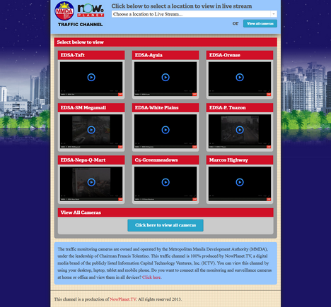 MMDA Traffic Mirror Website