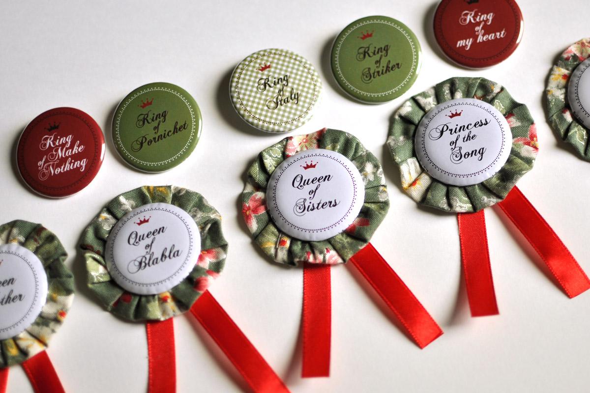 Bulles de neige badges personnalis s evjf mariage for Badge fait maison
