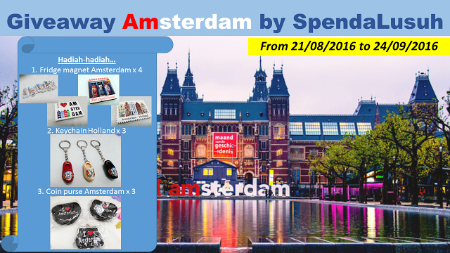Giveaway Amsterdam by SpendaLusuh