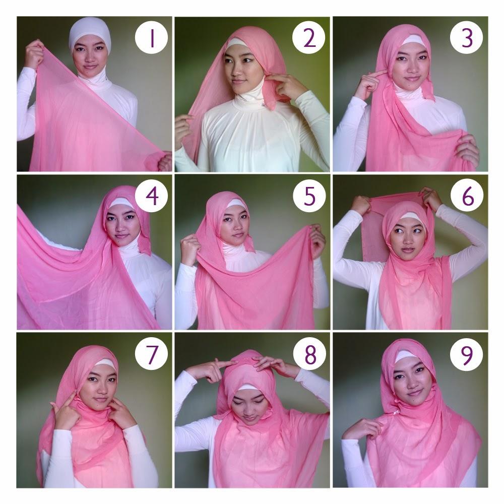 Cara Memakai Jilbab Segi Empat Update Cara Cantik