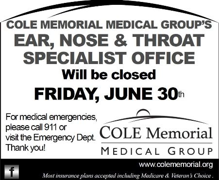 6-30 Cole Memorial Ear, Nose, Throat Specialist