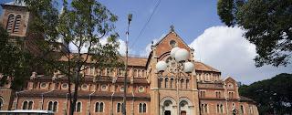 Notre Dame. A Basílica de Saigon. Ho Chi Minh City. Vietnã