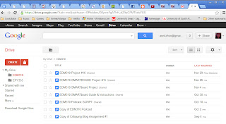 This is a screenshot of our documents on Google Docs.