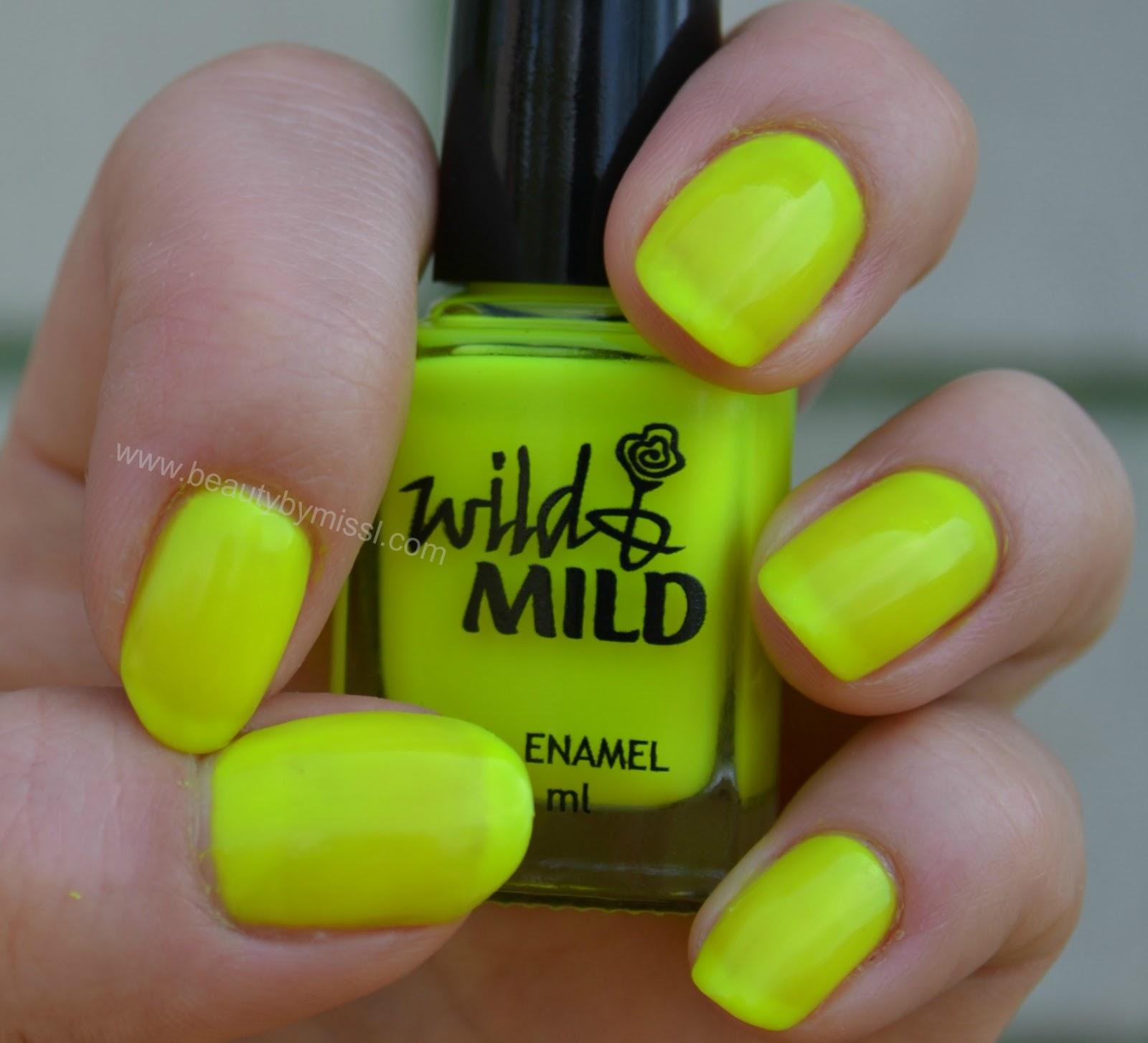 neon yellow maicure notd wild&mild