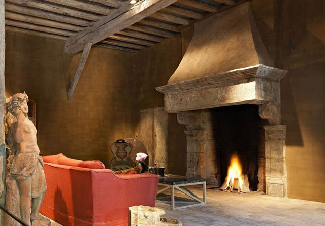 Rustik chateaux grandes chimeneas se oriales de piedra - Chimeneas grandes dimensiones ...