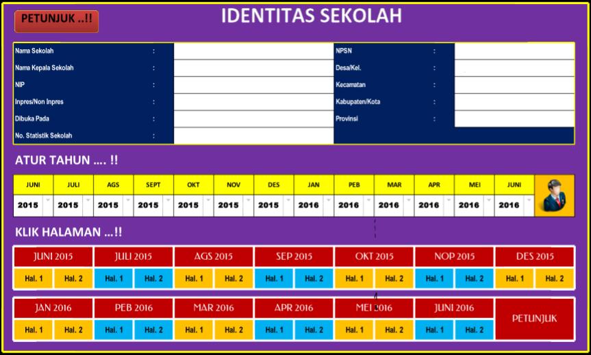 Aplikasi Administrasi Sekolah Format Laporan Bulanan Sekolah Microsoft Excel Berkas Sekolah
