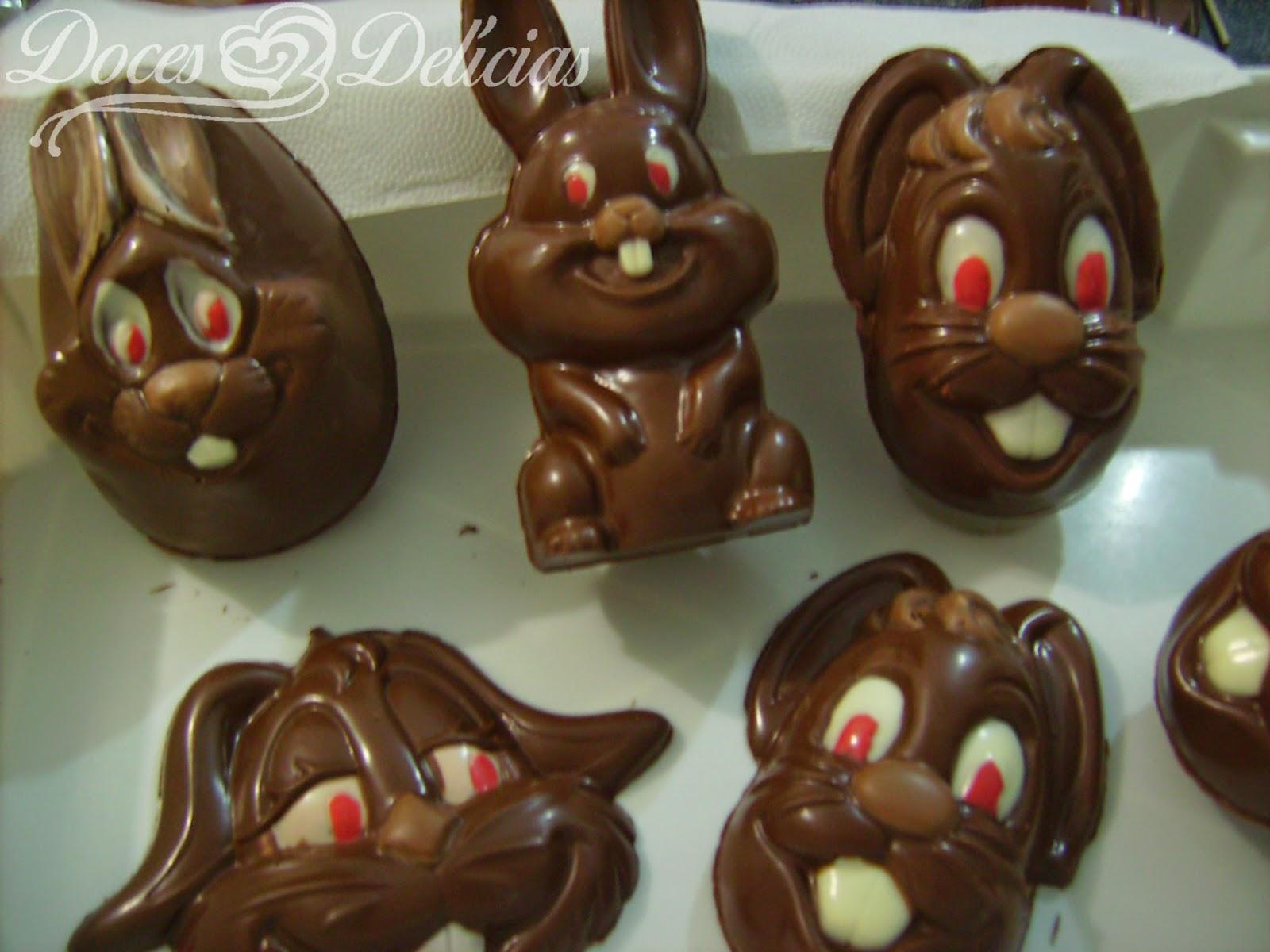 Coelhos de chocolate