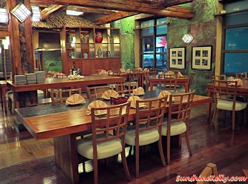 Genji Japanese Restaurant, Hilton Petaling Jaya, Osaka Tokyo Menu, Japanese Food, Restaurant setting