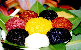 Seven color steamed glutinous rice