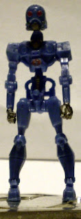 Front of mysterious mini blue robot