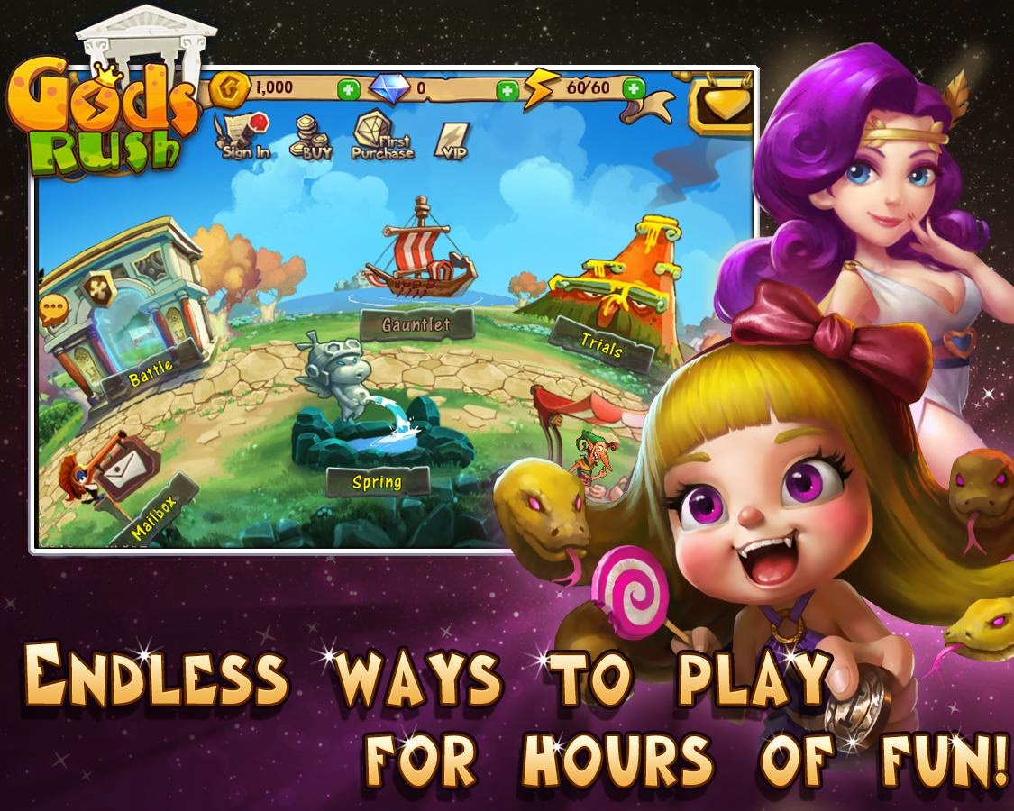 APK MOD - MOD APK HVGA QVGA HD Games: Gods Rush MOD APK 1.1.9 (Mod ...