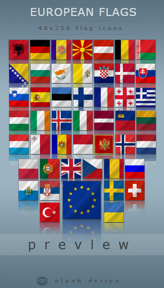 Free European Flags Icons