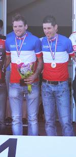 Champion de France de course en ligne juin 2013 avec son pilote Emmanuel Hutin