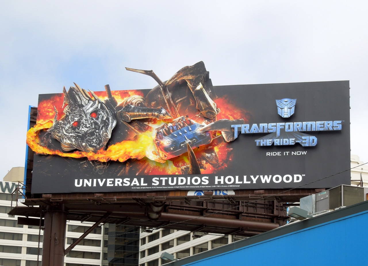 Daily Billboard: Transformers 3D ride Universal Studios Hollywood ...