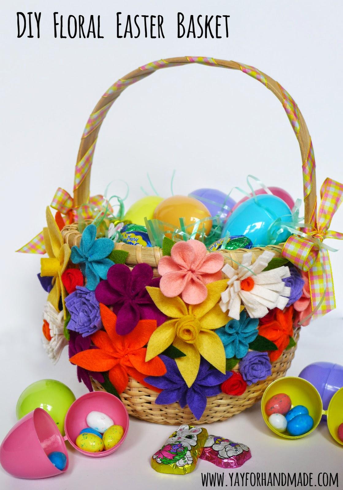 Design Dazzle Link Party felt flowers Easter basket