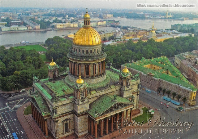 Postcard | St. Isaac's Cathedral in St. Isaac's Square , St. Petersburg, Russia