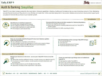Tally.ERP 9 - Audit & Banking Simplified