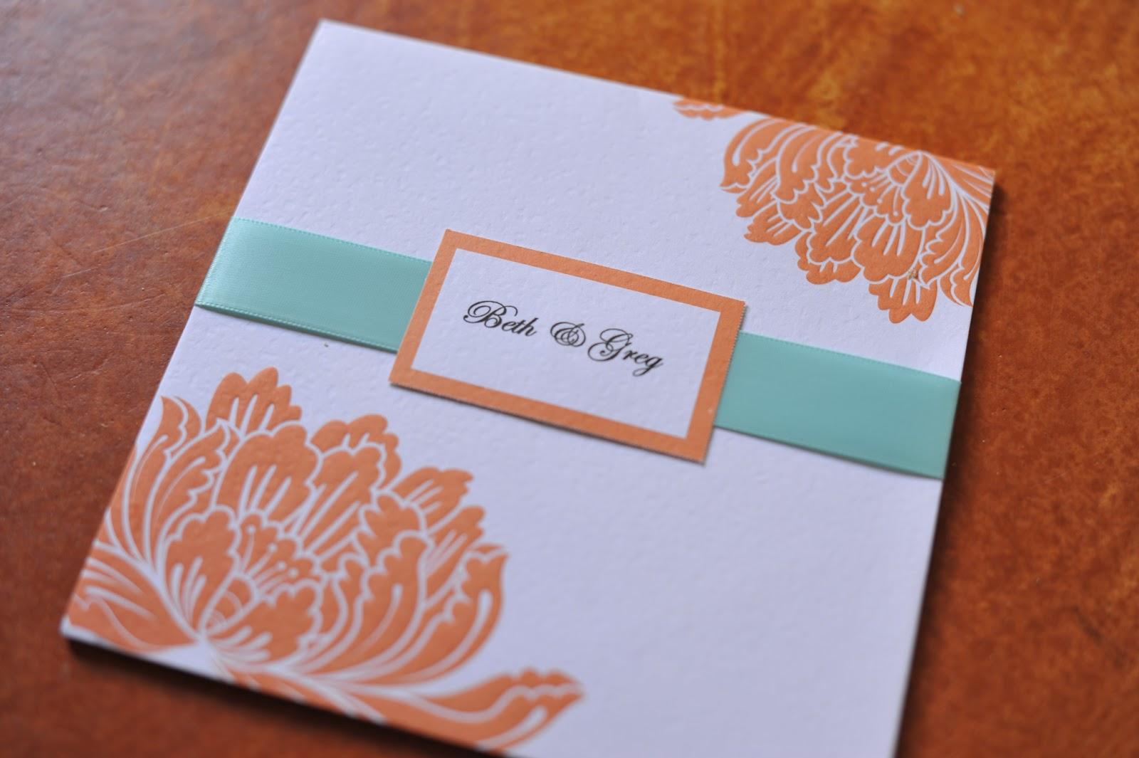 orange and turquoise wedding invitations. wedding invitations orange and turquoise