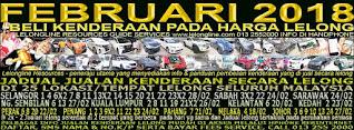 1-28/02/2018 - JUALAN KENDERAAN LELONG SELURUH MALAYSIA & SEKITAR KLANG VALLEY-SGR/K L