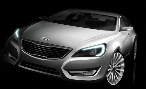 Sedan KIA VG Concept at the Auto Show
