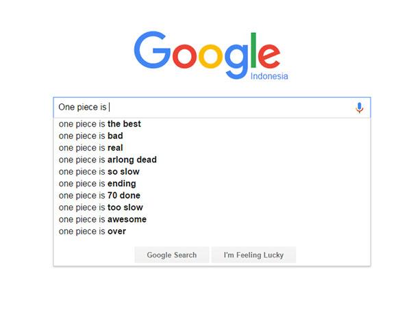 One Piece - score/nilai dari Google