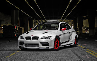 White BMW M3 GTRS3 Custom Red Rims Tuning Sport Supercar 1920x1200 HD Wallpaper