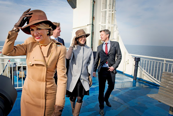 King Willem-Alexander of The Netherlands and Queen Maxima of The Netherlands and Crown Prince Frederik of Denmark and Crown Princess Mary of Denmark visits Samso Island on March 18, 2015 in Denmark