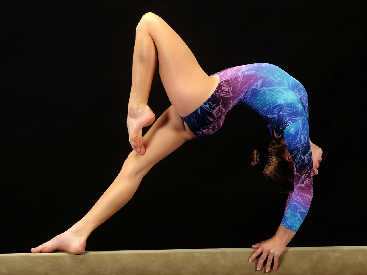 Girl On Gymnastics Beam