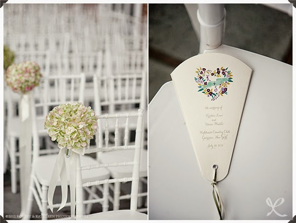 Highlands Country Club Wedding - Garrison, NY - Hudson Valley Wedding - Ceremony Chair Flowers- Splendid Stems Floral Designs