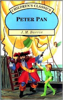 1996 children's classics book cover of Peter Pan by J.M. Barrie