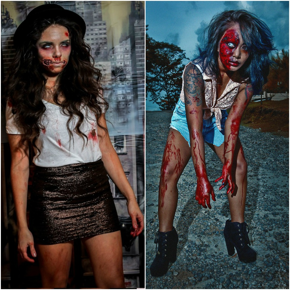 zombie outfit makeup fashion bloggers halloween fancy dress costume ideas 2014