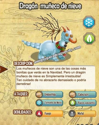 imagen de las caracteristicas del swow man dragon