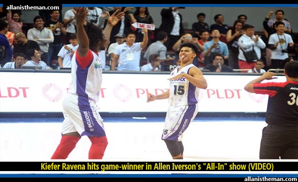 "Kiefer Ravena hits game-winner in Allen Iverson's ""All-In"" show (VIDEO)"