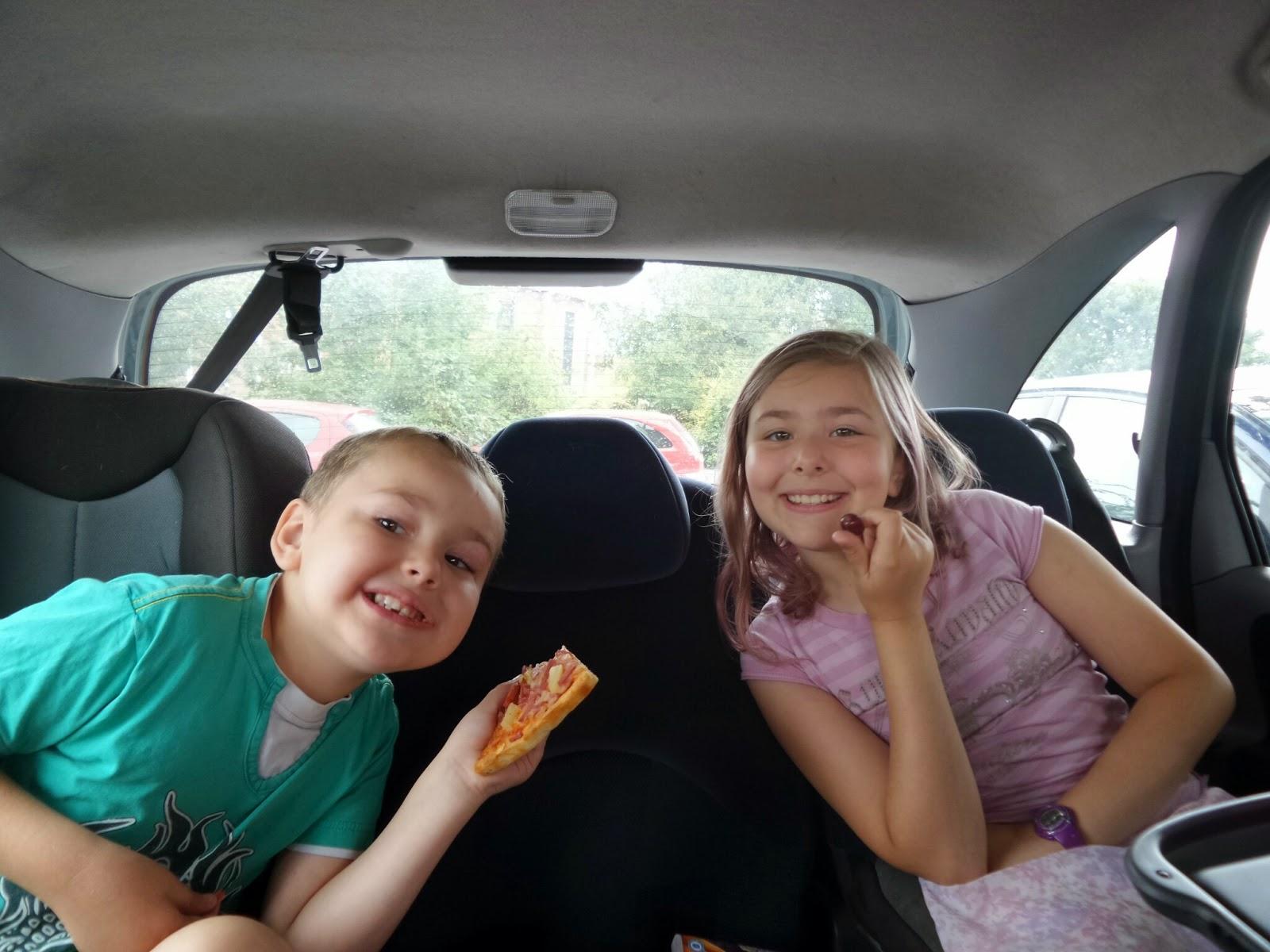 Top Ender and Big Boy eating a Car Picnic