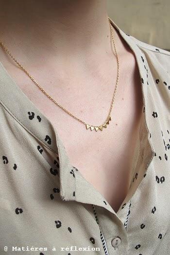 Stalactite bijoux dorés géométriques collier triangles