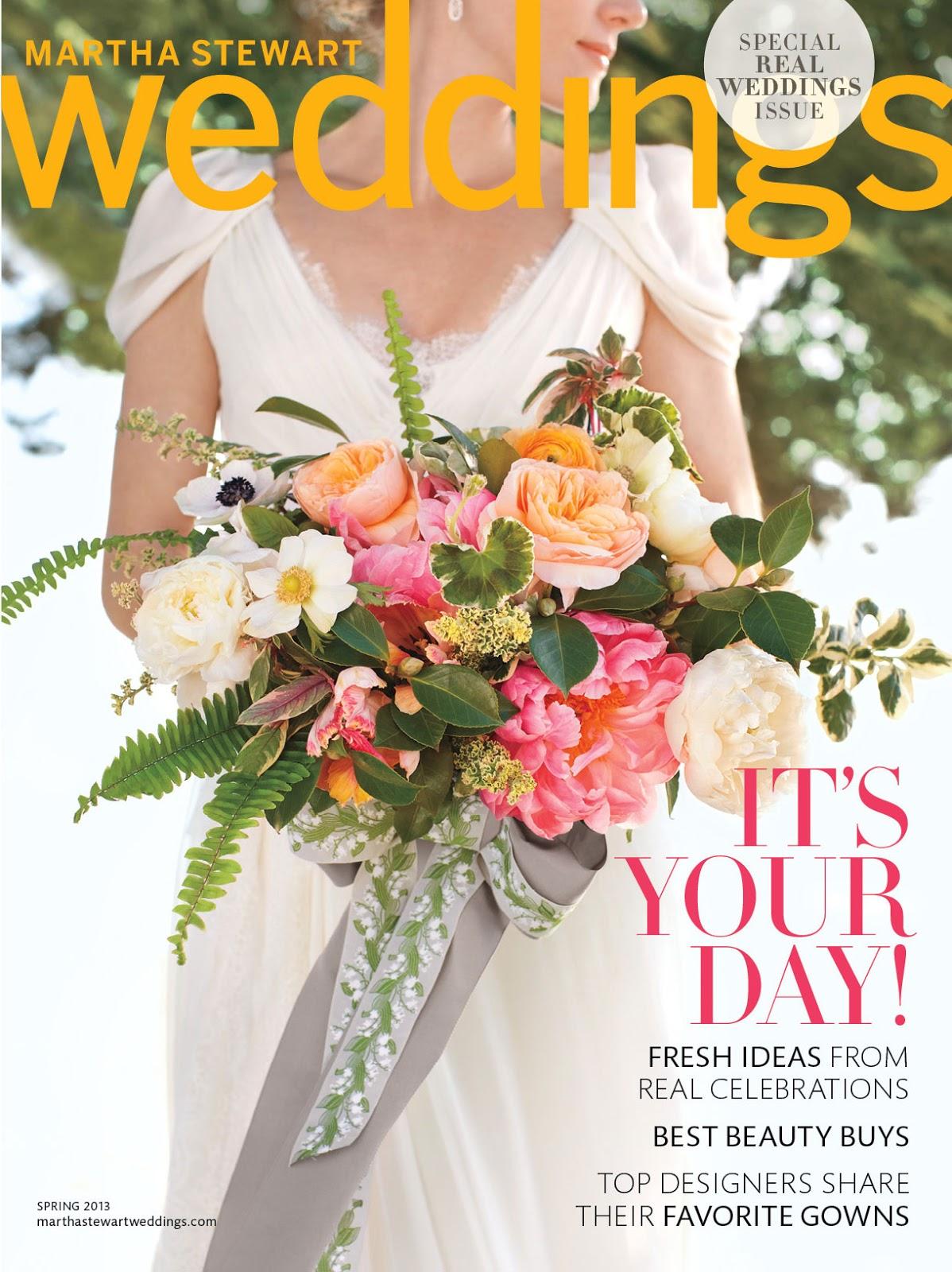 Paper Hounds Martha Stewart Weddings Spring 2013