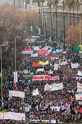 150 mil marchamos en Santiago en defensa de la educación