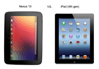 Apple iPad and Google Nexus 10 Photo