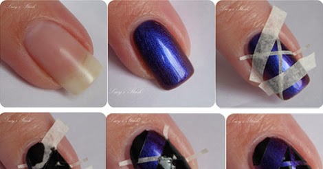 Exciting Tape Manicure Nail Art Design Step By Tutorial