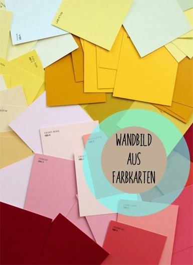 La reines blog basteln mit farbkarten bunter rahmen f r - Farbkarten kostenlos ...