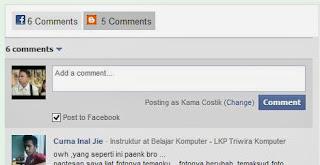 membuat komentar facebook dan blog model tab