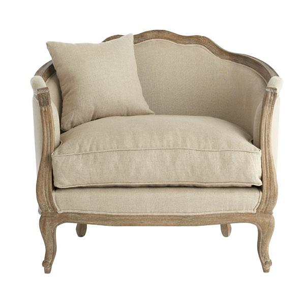 Header Linen Chair Love
