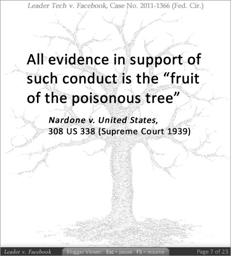 fruit of the poisonous tree doctrine fancy fruit